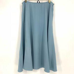Eileen Fisher Blue Silk Midi Skirt